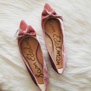 Sam Edelman Pink Raisa Bow Flat